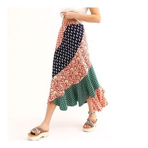 FREE PEOPLE Floral Medley Maxi Skirt 6 NWT